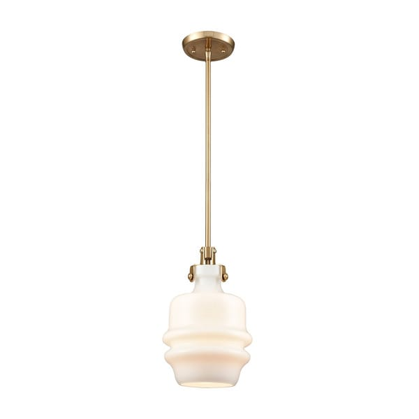Zumbia 1-Light Pendant, Satin Brass