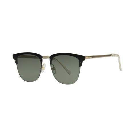 Anarchy Trent Men's Gold Frame with Green Lens Sunglasses - Medium