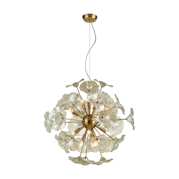 Vershire 12-Light Pendant, Satin Brass