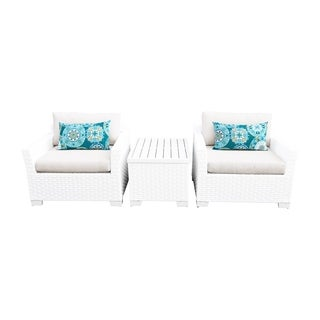 Continental OH0483 3-Piece Outdoor Patio Wicker Arm Chair Set
