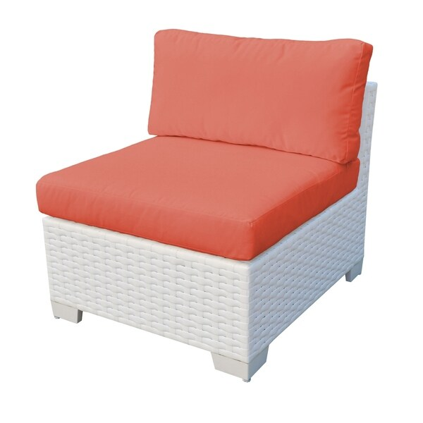 Shop Continental OH0503 Outdoor Patio Armless Wicker Sofa ... on Safavieh Outdoor Living Granton 5 Pc Living Set id=71325