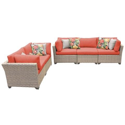 Sandbar OH0516 5-Piece Outdoor Patio Wicker Sofa and Loveseat Set