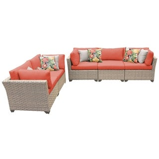 Sandbar OH0516 5-Piece Outdoor Patio Wicker Sofa and Loveseat Set