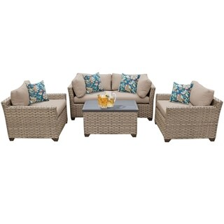 Sandbar OH0514 5-Piece Outdoor Patio Wicker Arm Chair and Loveseat Set