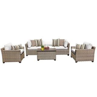 Sandbar OH0518 6-Piece Outdoor Patio Wicker Sofa and Arm Chair Set
