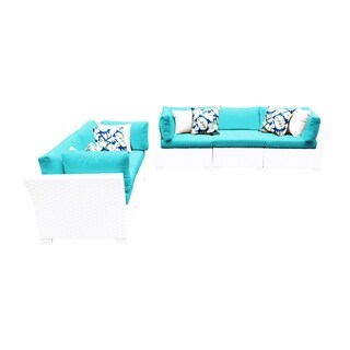 Continental OH0488 5-Piece Outdoor Patio Wicker Sofa and Loveseat Set