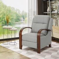 Mair Traditional Exposed Wood Fabric Recliner by Christopher Knight Home