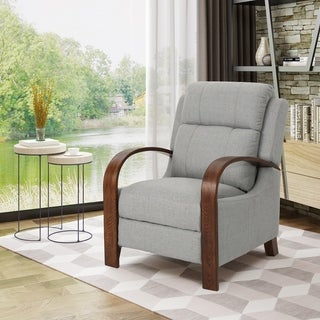 Mair Traditional Exposed Wood Fabric Recliner by Christopher Knight Home (4 options available)