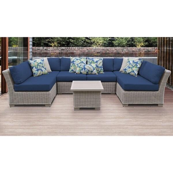 Coast 7 Piece Outdoor Wicker Patio Furniture Set 07c