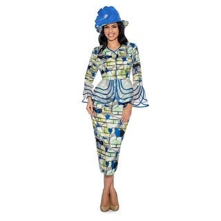 Giovanna Signature Women's 2-pc Floral Print Skirt Suit with Organza (More options available)