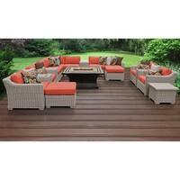 Coast 17 Piece Outdoor Wicker Patio Furniture Set 17b
