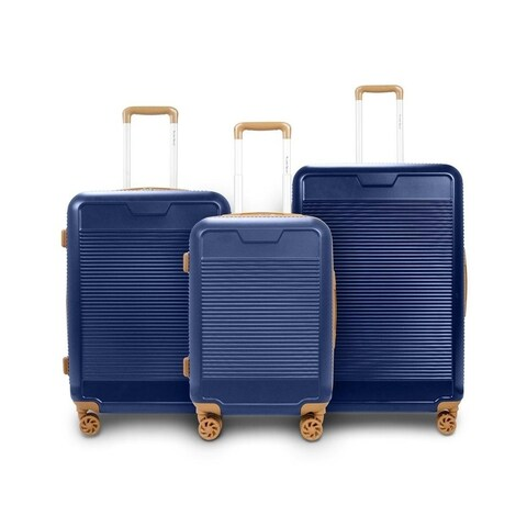 TravelerSpace Walnut 3-piece Expandable Hardside Spinner Luggage Set