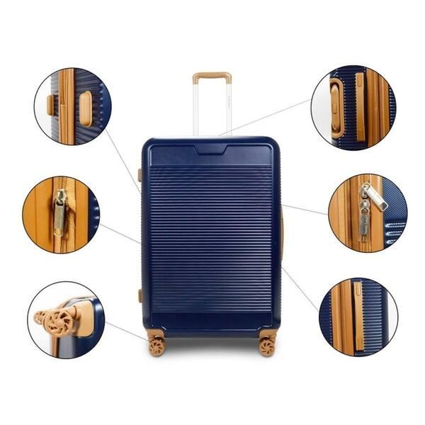 35d2908c8eec Shop TravelerSpace Walnut 3-piece Expandable Hardside Spinner ...