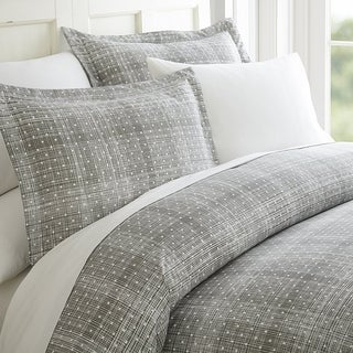 Elegant Comfort Luxury Silky Soft Polka Dot Patter Duvet Cover Set