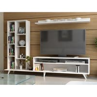 "Decorotika Luka 71"" TV Media Stand with Bookshelves and Wall Shelf"