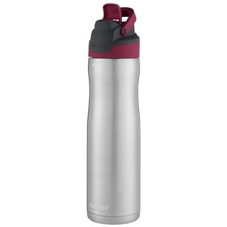 Contigo AutoSeal Chill Maroon/Silver Stainless Steel Water Bottle 24 oz.