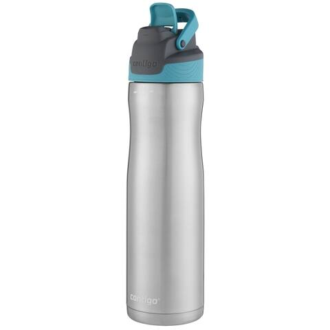 Contigo AutoSeal Chill Teal/Silver Stainless Steel Water Bottle 24 oz.