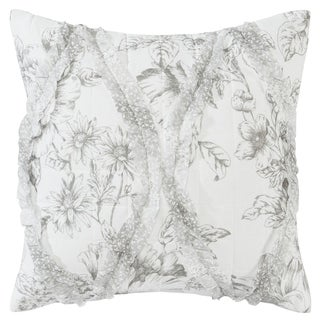 Laura Ashley Lena Grey Throw Pillow