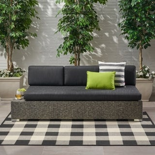 Puerta Outdoor 3 Seater Wicker Left/Right Sofa by Christopher Knight Home