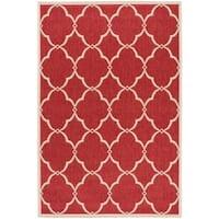 Safavieh Linden Modern & Contemporary Red / Cream Rug - 4' x 6'