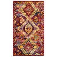 Safavieh Savannah Bohemian & Eclectic Red / Violet Polyester Rug - 4' x 6'