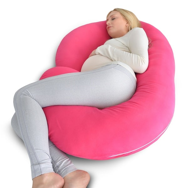 Shop Pharmedoc Full Body Pregnancy Pillow With Pink Jersey Cover