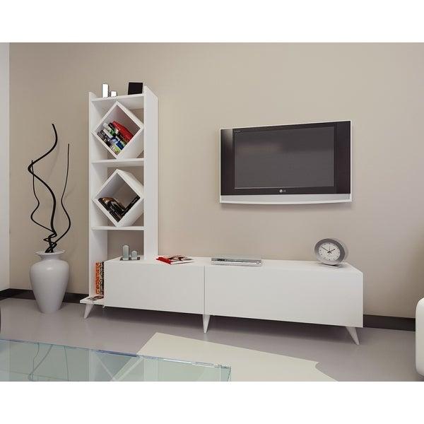 Shop Decorotika Deko 71 Tv Media Stand With Bookshelf