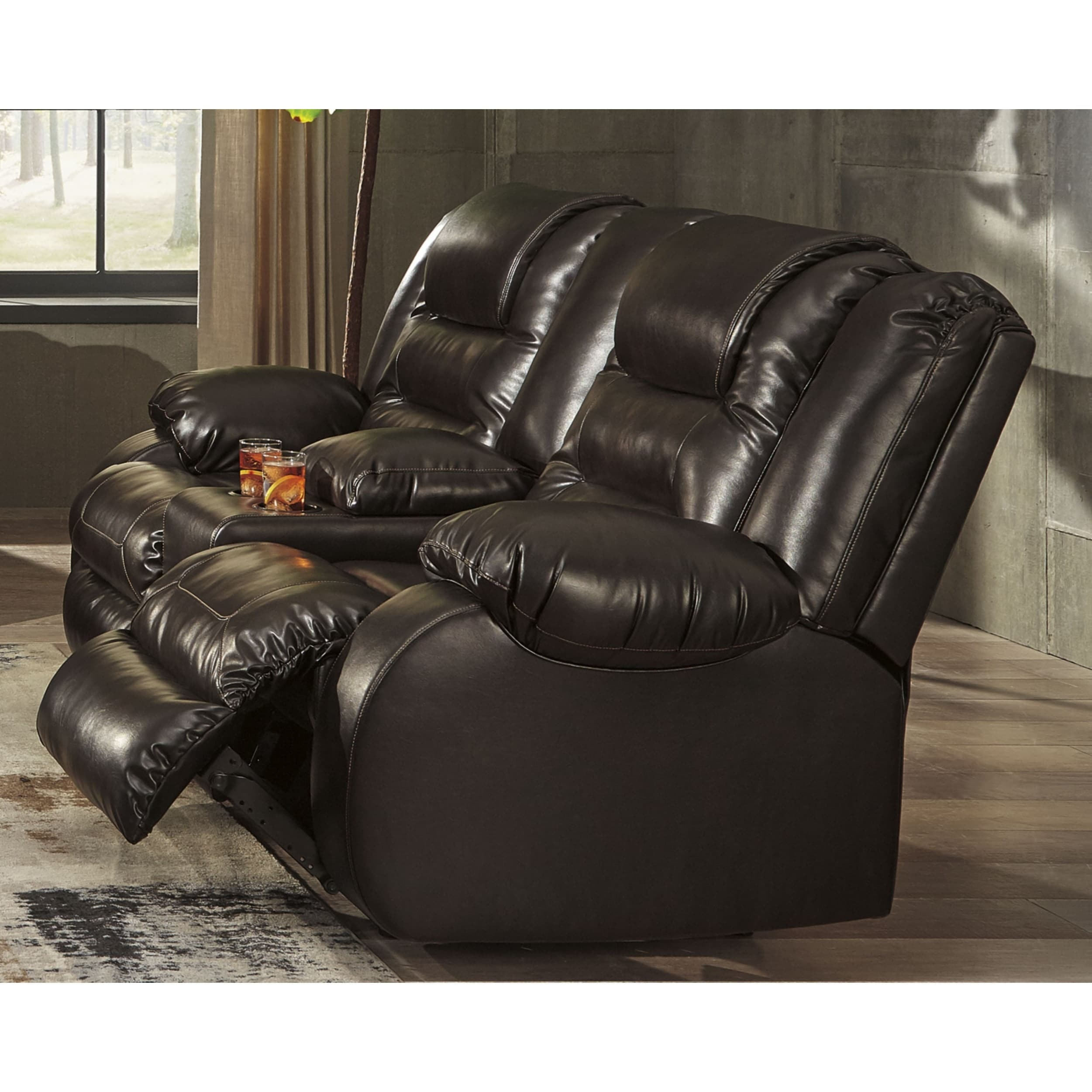 Phenomenal Signature Design By Ashley Chocolate Vacherie Reclining Loveseat W Console Onthecornerstone Fun Painted Chair Ideas Images Onthecornerstoneorg