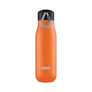 Zoku Orange Stainless Steel Insulated Water Bottle 18 oz.