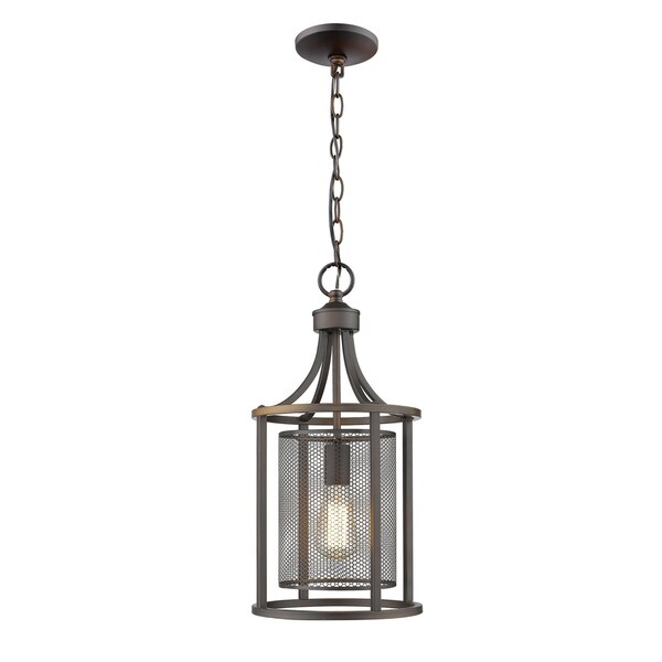 Eglo Verona 1-Light Pendant with Oil Rubbed Bronze Finish and Metal Shade