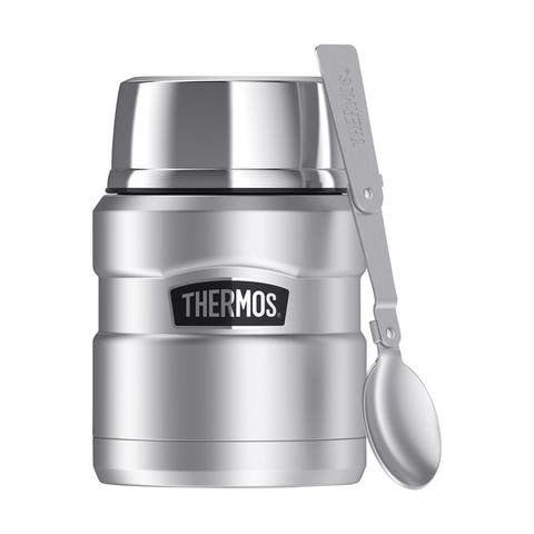 Thermos 16 oz. Stainless Steel Food Jar with Folding Spoon 3 pc.