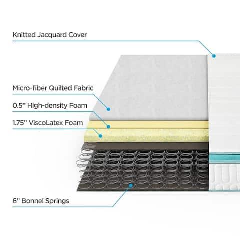 Priage by Zinus 8 inch Memory Foam Green Tea Hybrid Spring Mattress