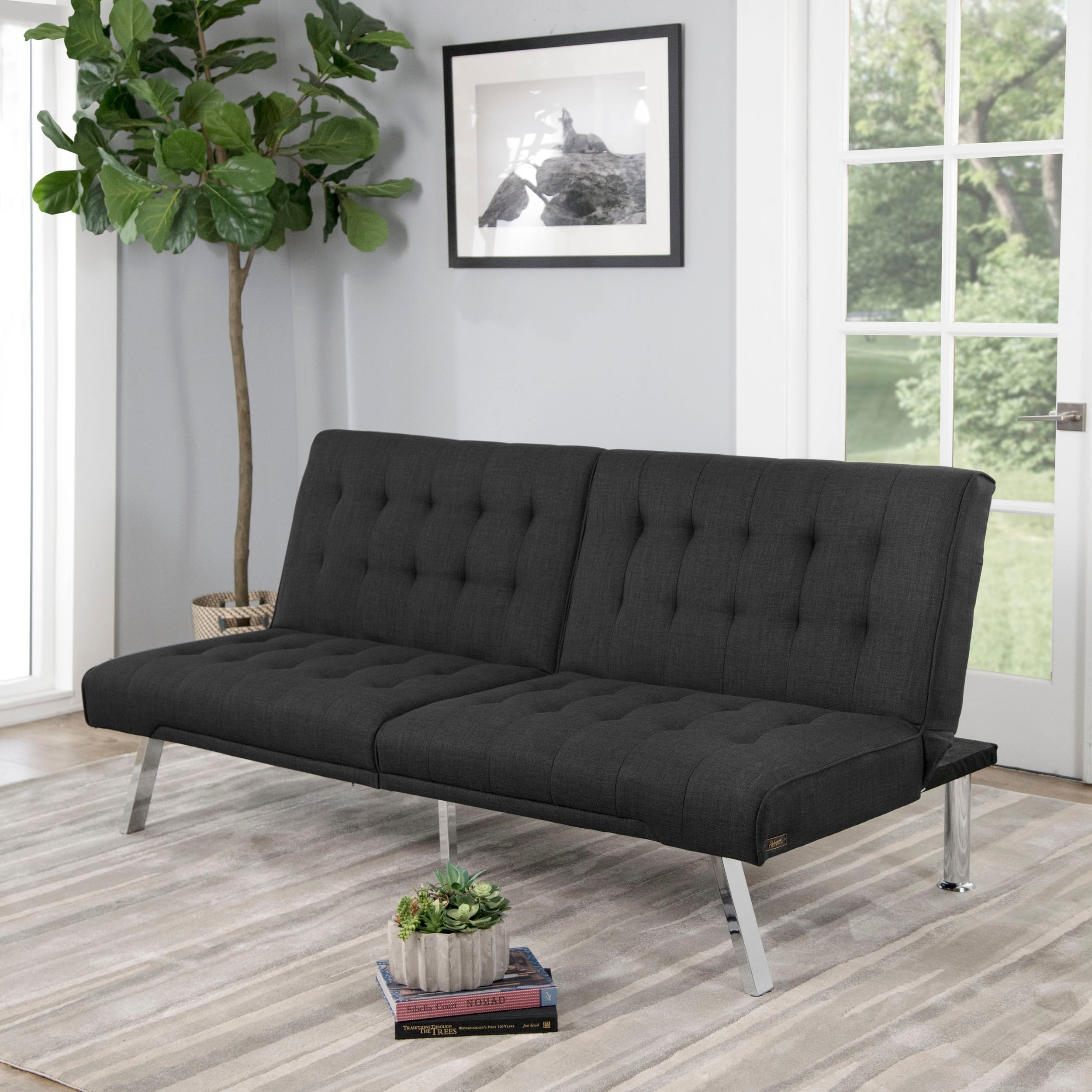 Cool Abbyson Clayton Grey Fabric Futon Sofa Bed Onthecornerstone Fun Painted Chair Ideas Images Onthecornerstoneorg