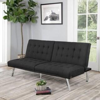 Abbyson Clayton Grey Fabric Futon Sofa Bed
