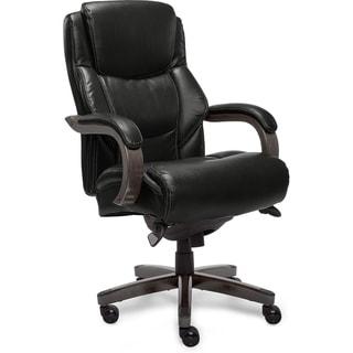 La-Z-Boy Delano Executive Office Chair in Jet Black Bonded Leather