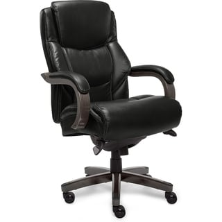 La-Z-Boy Delano Executive Office Chair in Jet Black Bonded Leather