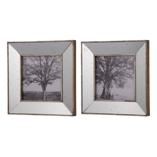 Shop Set Of 2 Kirby Mirror Square Picture Frames 15x15 Inches Free