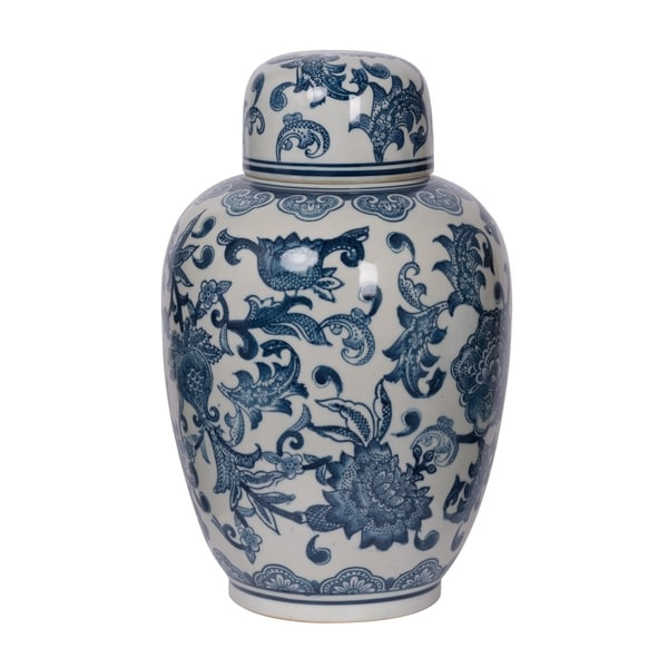 Amerie Lidded Decorative Jar, 8.5x12.5 inches