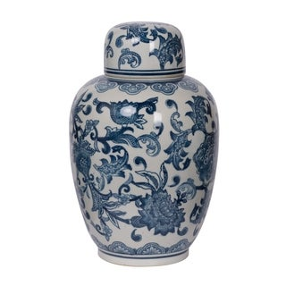 Amerie Lidded Decorative Jar, 8.5x12.5 inches