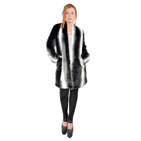 Hestin Meerkat Faux Fur Short Coat