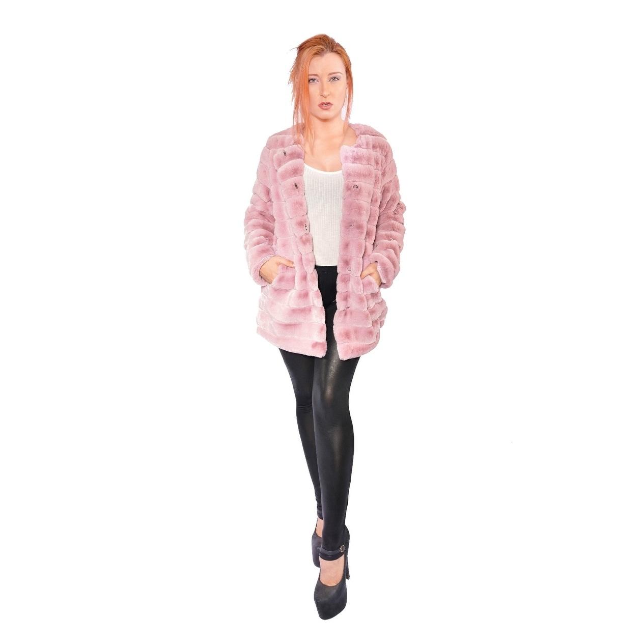 Details about  /Hestin Super Mink Faux Fur Waist Coat