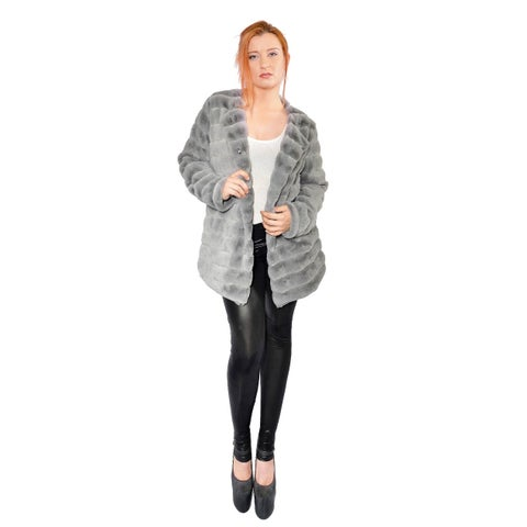 Hestin Super Mink Faux Fur Waist Coat