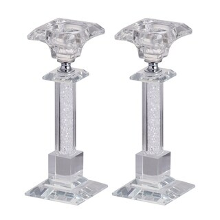 Set of 2 Lainey Candle Holder-Short, 3x3x7.5 inches