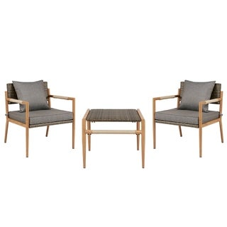 Madison Park Harlem Grey Outdoor Resin Wicker Accent Chair(Set of 2)