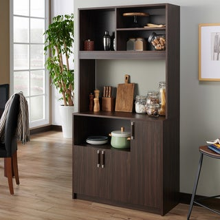 Link to Furniture of America Cail Rustic Wenge 4-shelf Standing Server Similar Items in Dining Room & Bar Furniture