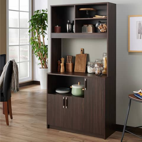 Hallee Rustic Wenge 3-cabinet Server by FOA