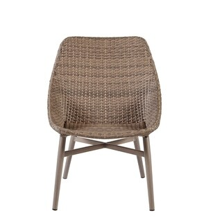 Madison Park Henke Grey Outdoor Resin Wicker Dining Chair (Set of 2)