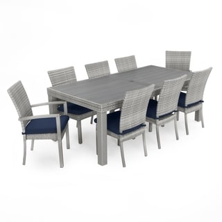 Cannes Woven Dining Set with Navy Blue Cushions by RST Brands