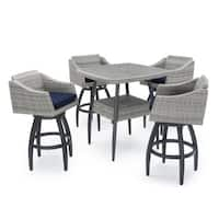 Cannes™ 5pc Barstool Set in Navy Blue by RST Brands®