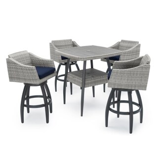 Cannes 5pc Barstool Set in Navy Blue by RST Brands®